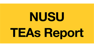 'TEAs Report' in black text on yellow background