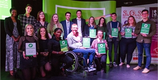 The winners at the Student Rep Awards